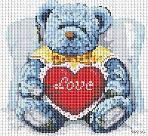 """Алмазная вышивка-мозаика """"Медвежонок с сердцем"""""""