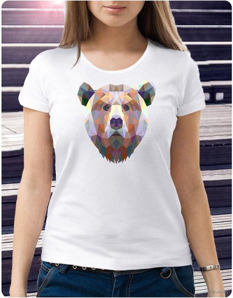 """Футболка женская """"Медведь"""" (размер 48; art. 59)"""