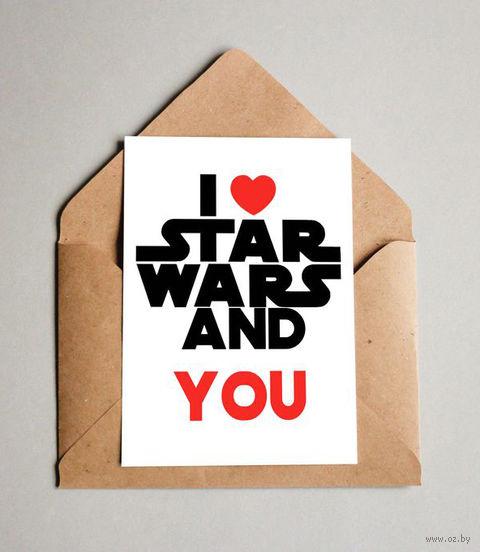 "Открытка ""Love Star Wars"" (арт. 615) — фото, картинка"