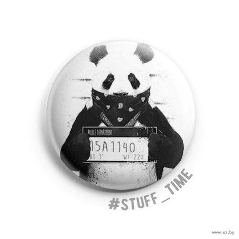"Значок маленький ""Гангста панда"" (арт. 510) — фото, картинка"