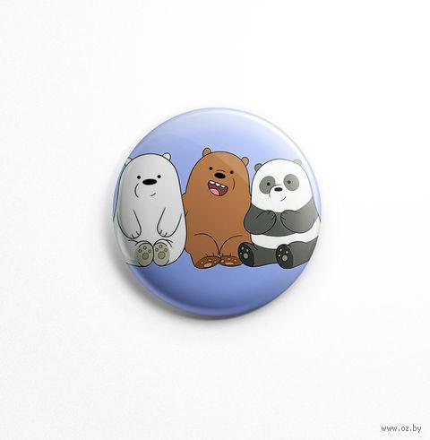 """Значок маленький """"Вся правда о медведях"""" (арт. 958) — фото, картинка"""