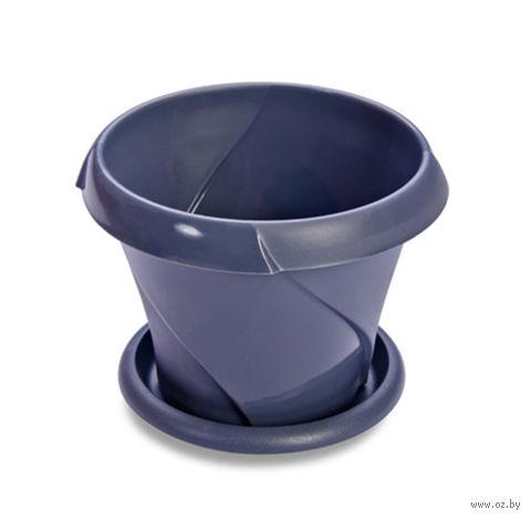 """Цветочный горшок """"Флориана"""" (13,5 см; синий) — фото, картинка"""