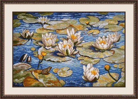 """Вышивка крестом """"Большие лилии"""" (400х260 мм) — фото, картинка"""