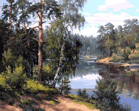 "Картина по номерам ""Лесная река"" (400х500 мм) — фото, картинка"