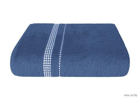 """Полотенце махровое """"Лето"""" (50х90 см; темно-синее) — фото, картинка"""