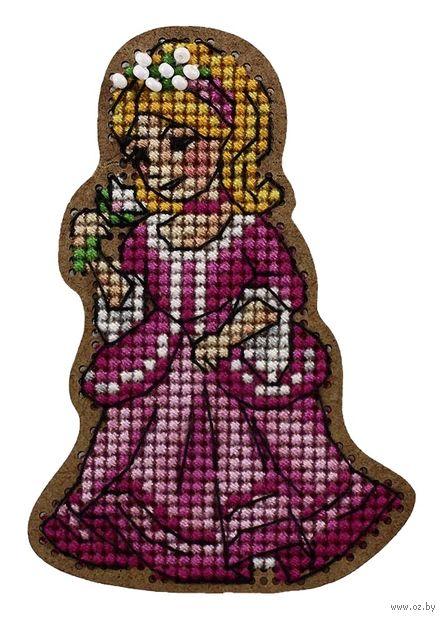 """Вышивка крестом """"Принцесса"""" (55х78 мм) — фото, картинка"""