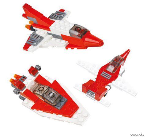 """Конструктор """"SuperBlock. Три в одном. Самолет, вертолет, катер"""" (63 элемента)"""