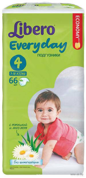 """Подгузники для детей """"Libero Everyday Maxi 4"""" (7-18 кг; 66 шт)"""