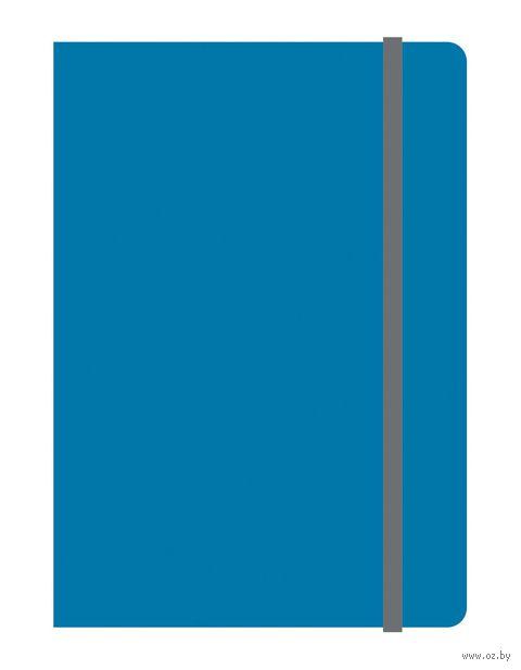 """Блокнот в клетку """"Elements"""" (А6; синий) — фото, картинка"""