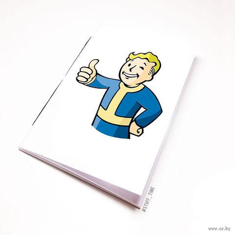 """Блокнот белый """"Fallout"""" А5 (109)"""