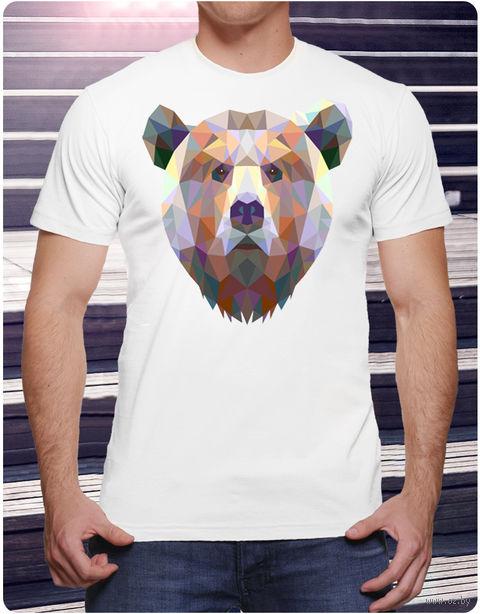 """Футболка мужская """"Медведь"""" (размер 50; art. 10)"""