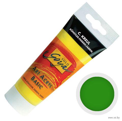"""Краска акриловая матовая """"Solo Goya Basic"""" 33 (100 мл; зеленый стойкий)"""