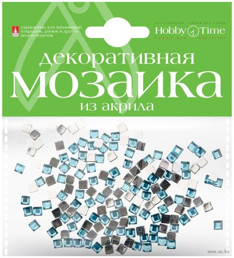 Мозаика декоративная из акрила №3 (4х4 мм; 200 шт.; голубой) — фото, картинка
