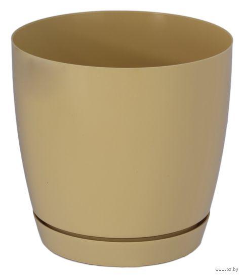 """Цветочный горшок """"Тоскана"""" (19 см; кофе латте) — фото, картинка"""