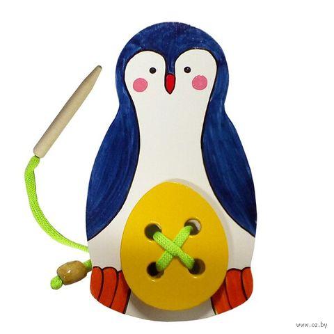 "Шнуровка ""Пингвин с яйцом"" — фото, картинка"