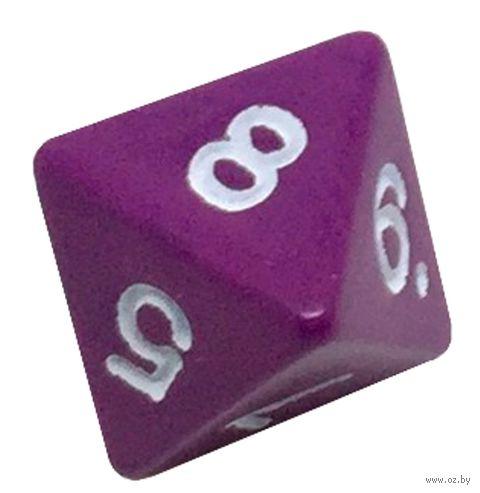 """Кубик D8 """"Простой"""" (16 мм; фиолетовый) — фото, картинка"""