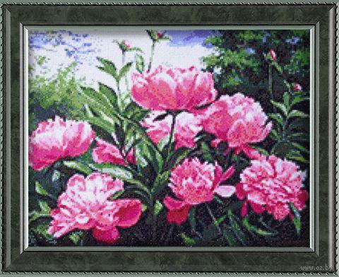 """Алмазная вышивка-мозаика """"Пионов цвет"""" (480х380 мм) — фото, картинка"""