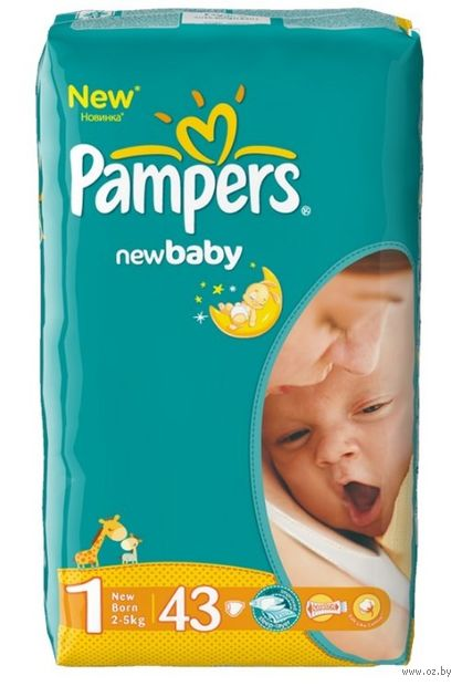 "Подгузники ""New Baby-dry New Born"" (2-5 кг; 43 шт.) — фото, картинка"