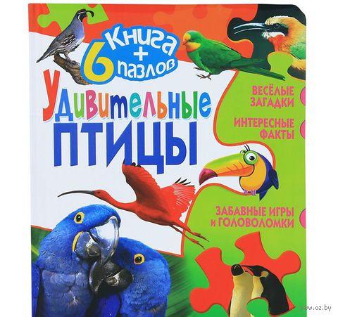 Удивительные птицы. Книга + 6 пазлов — фото, картинка