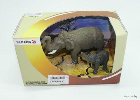 """Набор фигурок """"Слоны"""" (2 шт) — фото, картинка"""