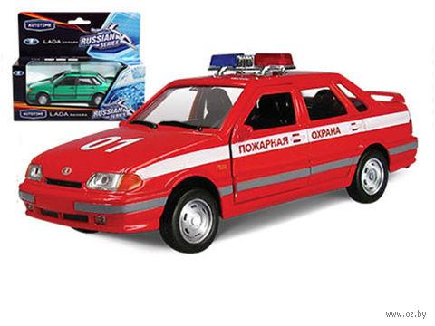 "Модель машины ""LADA 115. Пожарная охрана"" (масштаб: 1/36)"