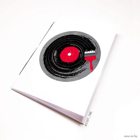 "Блокнот белый ""Винил"" А5 (110)"