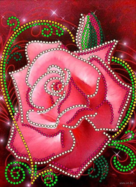 """Вышивка бисером """"Роза"""" (120х160 мм) — фото, картинка"""