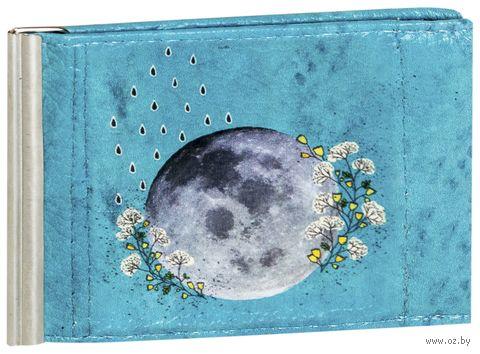 """Зажим для денег с монетницей """"Луна"""""""