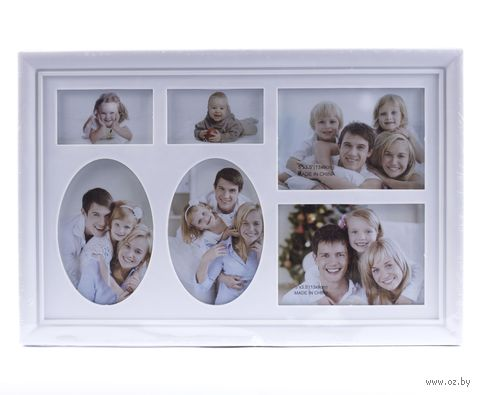 Рамка для фото пластмассовая на 6 фото (32x21 см; арт. 10313193)