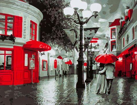 "Картина по номерам ""Улица в красных красках"" (400х500 мм; арт. PC4050109) — фото, картинка"