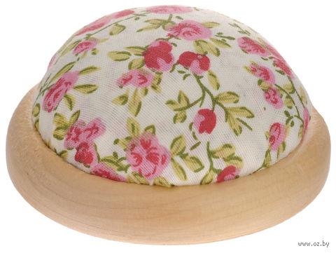 """Игольница-подушечка """"Розовые цветы"""" — фото, картинка"""