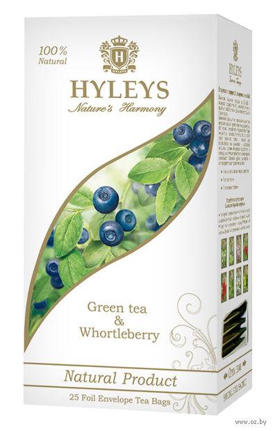 """Чай зеленый """"Hyleys. Гармония природы. Черника"""" (25 пакетиков) — фото, картинка"""