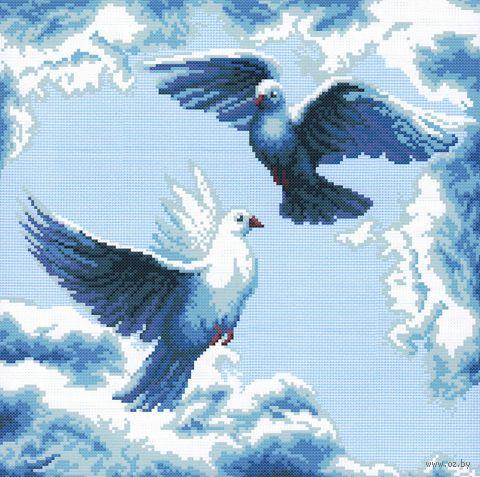"Вышивка крестом ""Танец в облаках"" (290х290 мм) — фото, картинка"