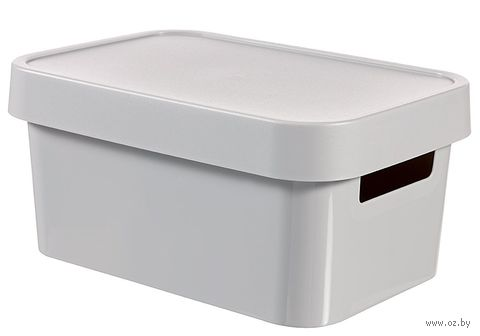 Ящик для хранения с крышкой (4,5 л; серый)