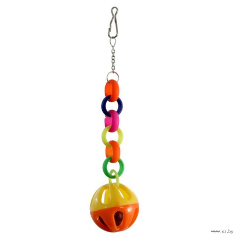 "Игрушка для птиц ""Звонкий шарик"" (20х4 см) — фото, картинка"