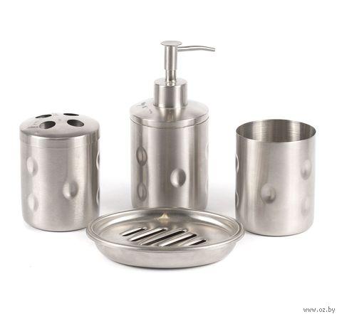 Набор для ванной металлический (4 предмета)