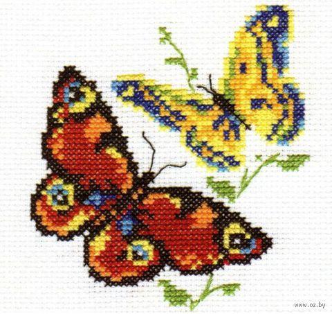 "Вышивка крестом ""Бабочки-красавицы"" (100х110 мм) — фото, картинка"