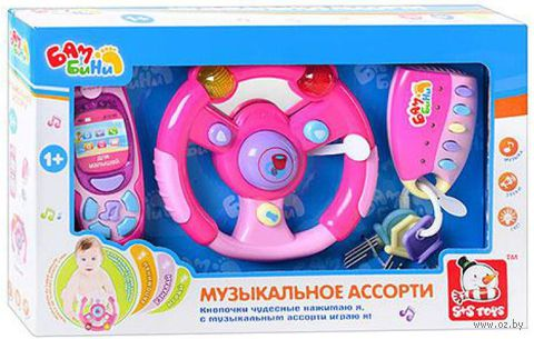 """Набор музыкальных игрушек """"Музыкальное ассорти"""" (со световыми эффектами; арт. EC80348R)"""