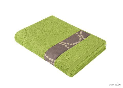 """Полотенце махровое """"Таллин. Круги"""" (35х70 см; травяное) — фото, картинка"""