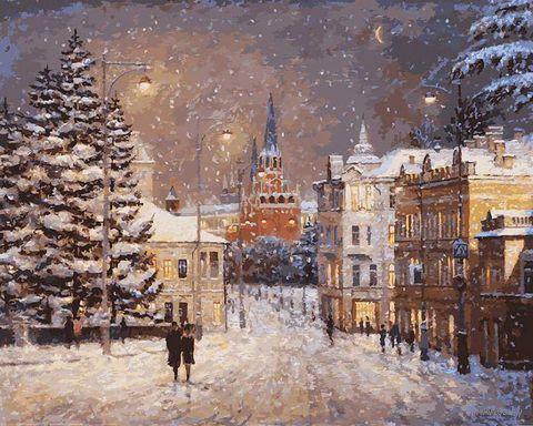 """Картина по номерам """"Снег на Волхонке"""" (500х400 мм)"""