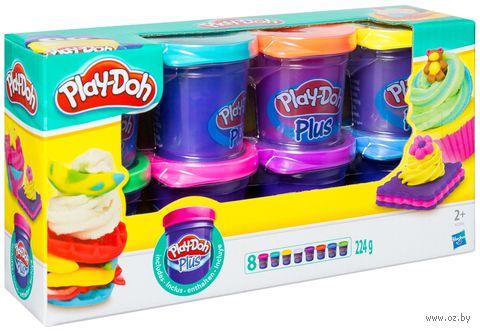 """Тесто для лепки """"Play-Doh Plus"""" (8 цветов)"""
