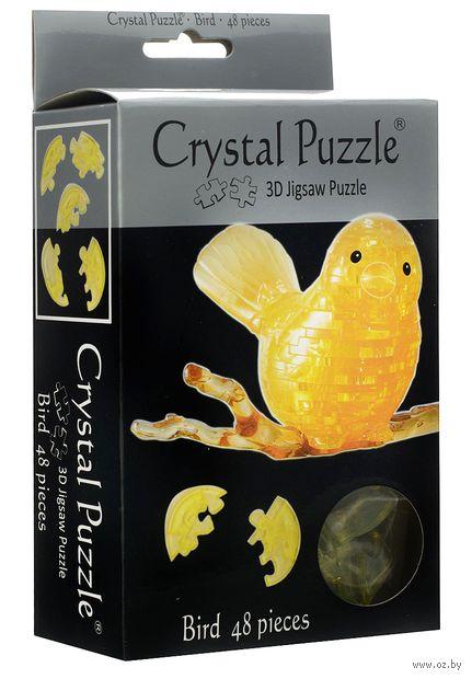 "Пазл-головоломка ""Crystal Puzzle. Птичка"" (48 элементов) — фото, картинка"