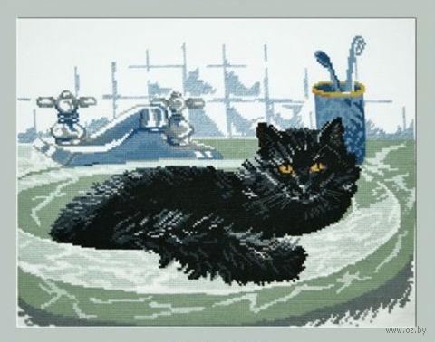 """Вышивка крестом """"Черный кот"""""""