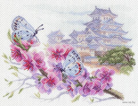 """Канва с нанесенным рисунком """"Восточная весна"""""""