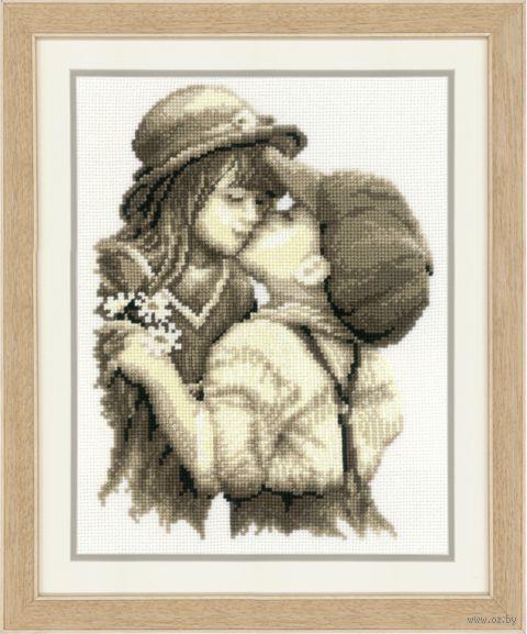 """Вышивка крестом """"Первый поцелуй"""" (200х260 мм) — фото, картинка"""