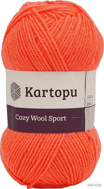 """Пряжа """"KARTOPU. Cozy Wool Sport №K1212"""" (100 г; 280 м; терракот) — фото, картинка"""