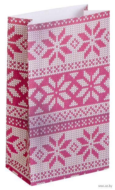 """Пакет бумажный подарочный """"Вязка"""" (8x14x4 см) — фото, картинка"""