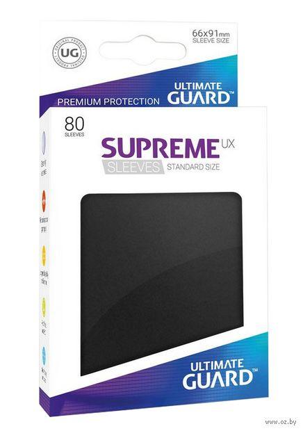 """Протекторы """"Supreme UX"""" (66х91 мм; 80 шт.; черные) — фото, картинка"""