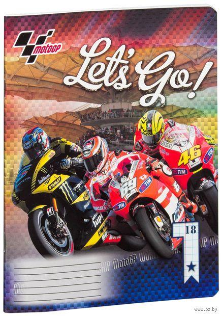 """Тетрадь в клетку """"MotoGP"""" (18 листов)"""