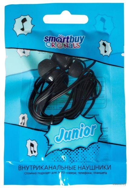 Внутриканальные наушники Smartbuy JUNIOR, черные — фото, картинка